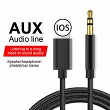 3,5 Mm Jack Draht Linie Aux Kabel Auto Lautsprecher Kopfhörer Adapter Für 8 Iphone 11 Pro Xr 12 Audio Splitter kabel CordSpeaker