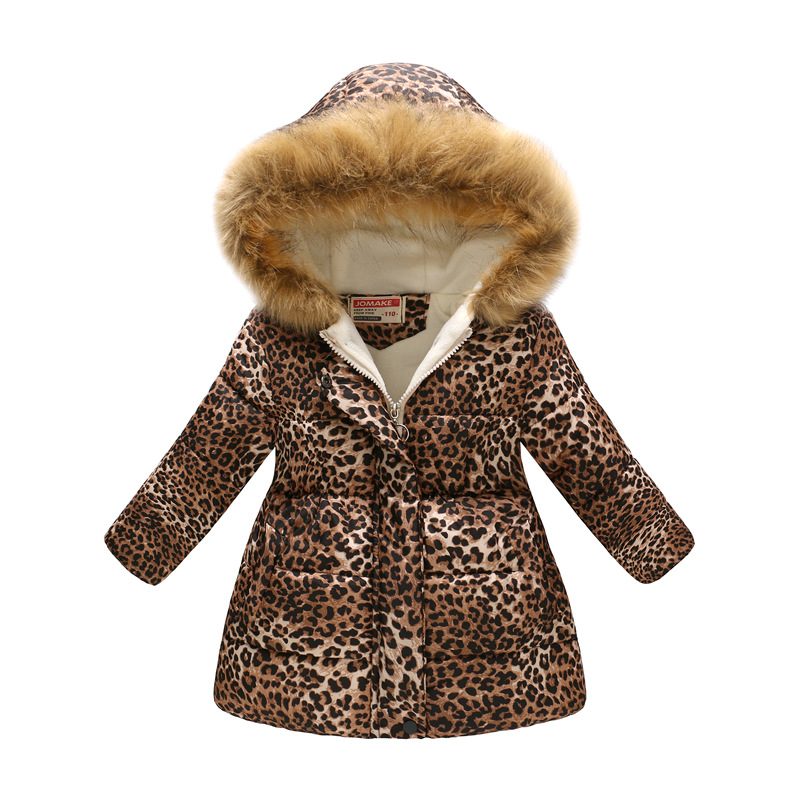 Winter Girls Warm Down Jackets Kids Fashion Printed Thick Outerwear Children Clothing Autumn Baby Girls Cute Jacket Hooded Coats 3