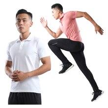 Обучение Для мужчин рубашка быстросохнущая бег Для мужчин теннис тренажерный зал на свежем воздухе верхом дышащая футболка для гольфа для игры в бадминтон, одежда