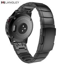 Quick Fit Horlogebanden Voor Garmin Fenix 5/Fenix 3 Hr Fenix 5S/5X Plus Rvs horloge Band Strap Voor Forerunner 935
