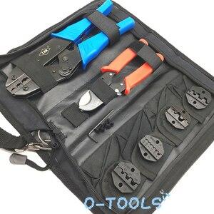 Image 3 - Krimpgereedschap hand tool set voor crimp terminals en connector met kabel cutter tang vervangbare sterft LS K03C, multi tool kits