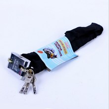 Cloth Covered Chain Lock 80cm Bicycle Safety Rust-proof Square Head Blade