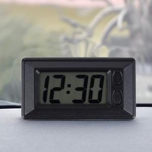 High Quality Self-Adhesive LCD Mini Digital Clock Auto Car Truck Dashboard Date Time Calendar Black Vehicle Electronic Clock