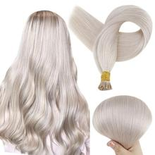 VeSunny Blonde I Tip Hair Extensions Human Hair Salon Quality Straight Pre Bonded Thick Human Hair Extensions