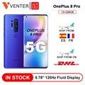 Globale Rom Oneplus 8 Pro 5G Smartphone Snapdragon 865 12GB 256GB 6.87 ''120Hz Flüssigkeit Bildschirm 48MP Quad Cams 30W Drahtlose Lade
