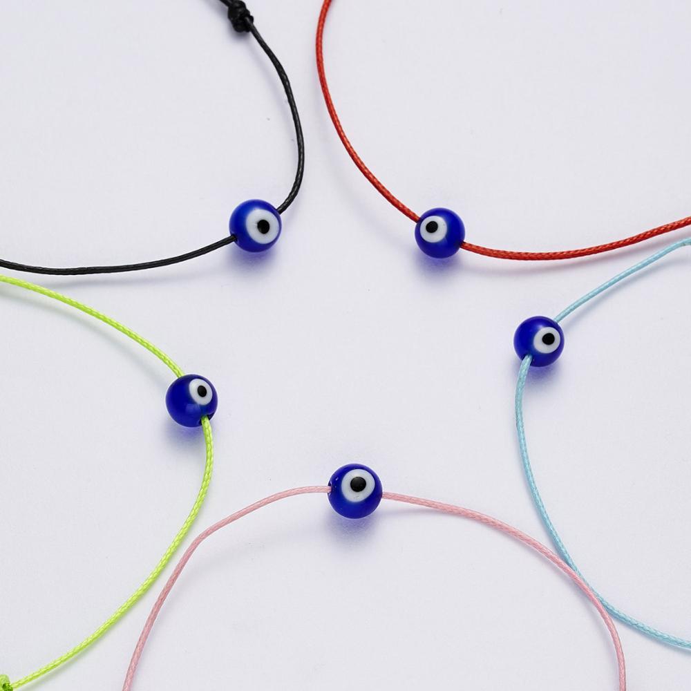 8seasons Fashion Cute Turkish Blue Eyes Colorful Adjustable Bracelet Women Men Colorful Thin String Braided Jewelry Charms 1 Pc Charm Bracelets Aliexpress