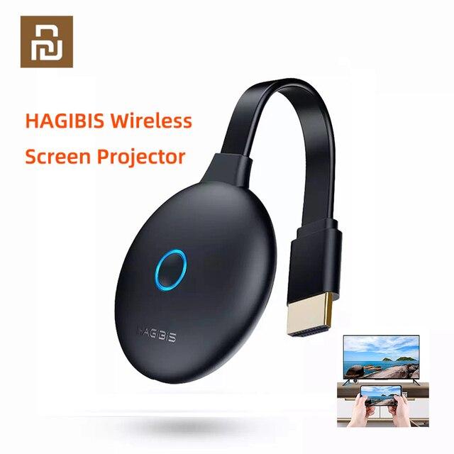 Youpin hagibis ワイヤレススクリーンプロジェクター hd 1080 p 画面引伸電話虫眼鏡拡大鏡 3D 映画ビデオディスプレイ
