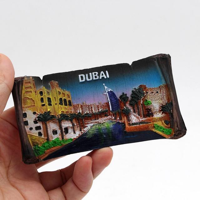 Dubai sailing Hotel souvenir 3D fridge magnets magnetic refrigerator paste home decoration Dubai architecture Collection Gifts 5