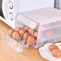 Double Layer Egg Holder Egg Food Container Organize Drawer Eggs Crisper Kitchen Products Refrigerator Eggs Boxes
