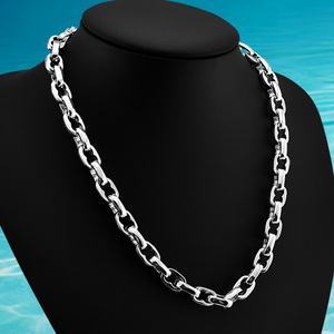 925 JEWELRY! CUBAN LINK 9 MM 925 Sterling Silver NECKLACE FOR MEN CHOKER FASHION JEWELRY LONG 57-72CM
