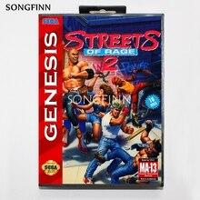 16 Bit Md Scheda di Memoria con La Scatola per Il Sega Mega Drive per Genesis Megadrive Streets Of Rage 2