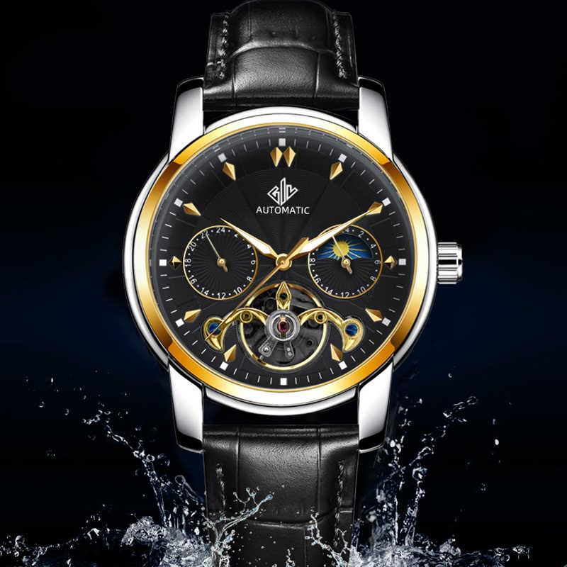 גבעת Mens שעונים 2020 יוקרה עמיד למים מכאני שעון גברים אוטומטי נירוסטה אופנה שלד זכר שעון часы