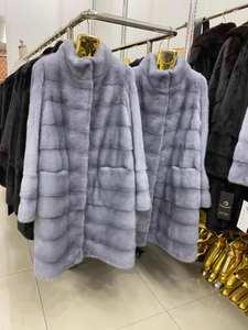 Jackets Mink-Coat Real-Fur-Coat Natural Fur 1821 Winter Women Long Warm And Wishers Rose