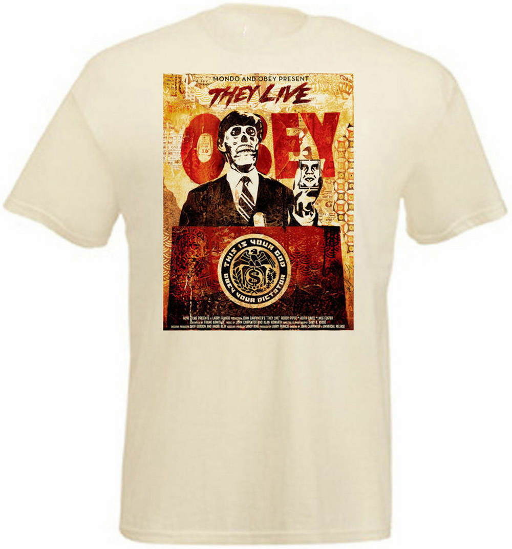 They Live <font><b>V8</b></font> <font><b>T</b></font> <font><b>Shirt</b></font> Natural Movie Poster All Sizes S-3Xl High Quality Casual Printing Tee <font><b>Shirt</b></font> image