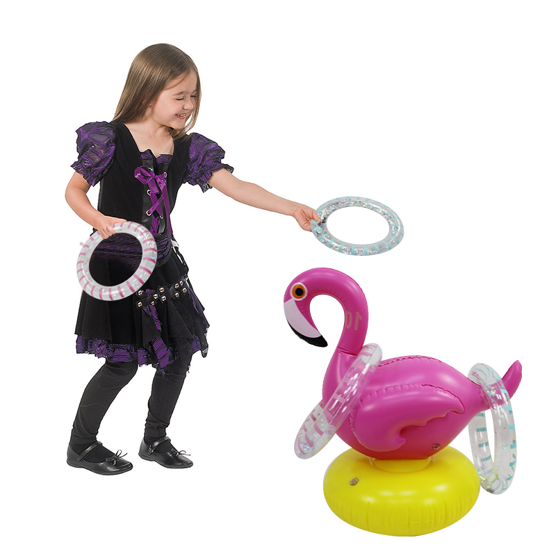 Flamingo INFLATABLE RING Toss Game Fun Toys Throwing Ring Adult Kids Christmas Halloween Props