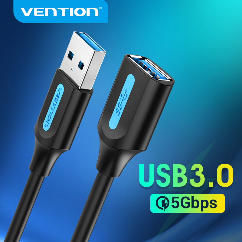 Vention USB Extension Cable USB 3.0 2.0 Extender Cord for Smart TV SSD Xbox One Laptop PC Fast Speed USB 3.0 Cable Extension