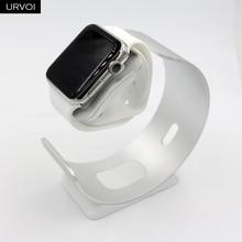 Держатель URVOI для Apple Watch series 5 4 3 2 1 простая круглая подставка для iWatch алюминиевый сплав Хранитель современный дизайн 38 40 42 44 мм