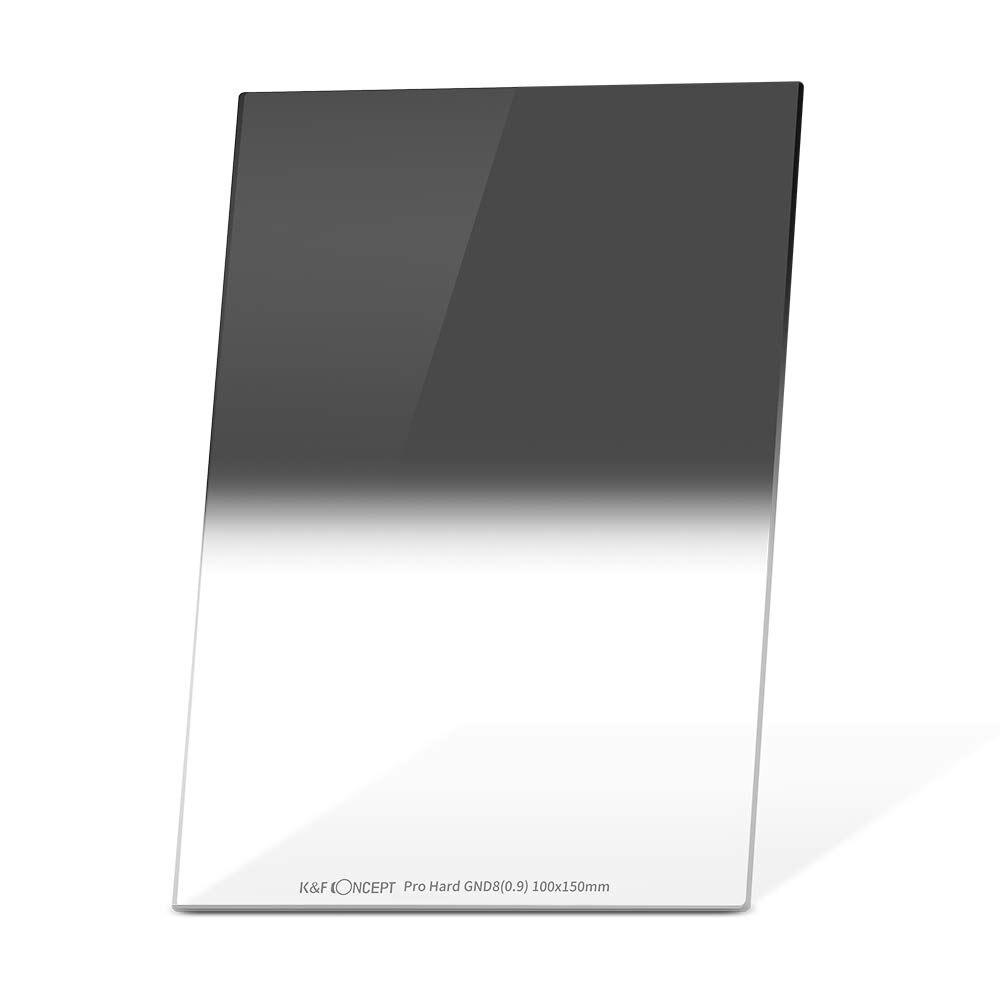 K & F Concept Hard Grad ND8 100mm x 150mm GND8 MC filtre multi-couches verre optique ND 8 0.9 densité neutre graduée