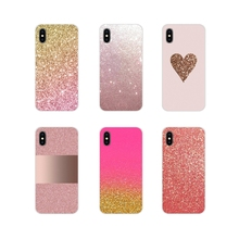 For Oneplus 3T 5T 6T Nokia 2 3 5 6 8 9 230 3310 2.1 3.1 5.1 7 Plus 2017 2018 TPU Transparent Shell Covers Pink Gold rose Glitter
