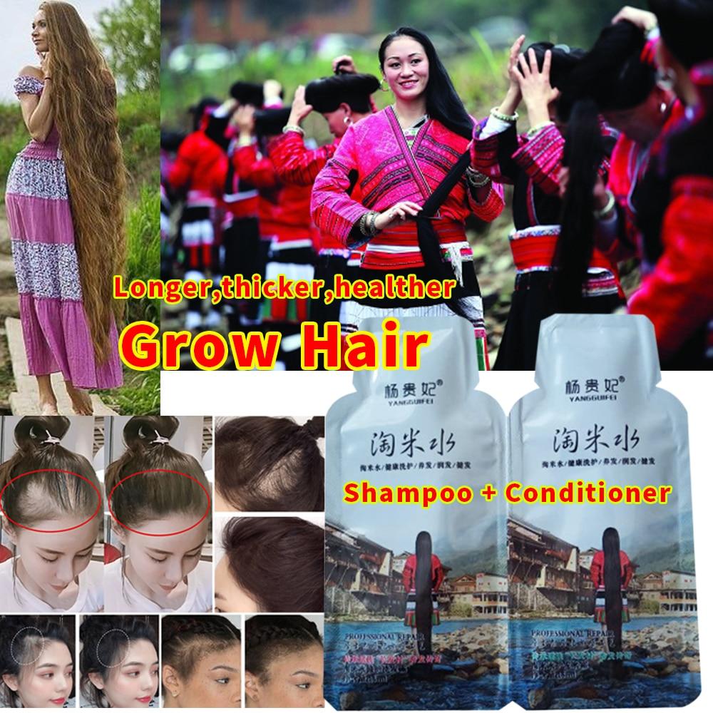 Новый рис шампунь для роста волос против выпадения волос лечение для мужчин t Сыворотка для быстрого роста более длинные густые волосы для м...