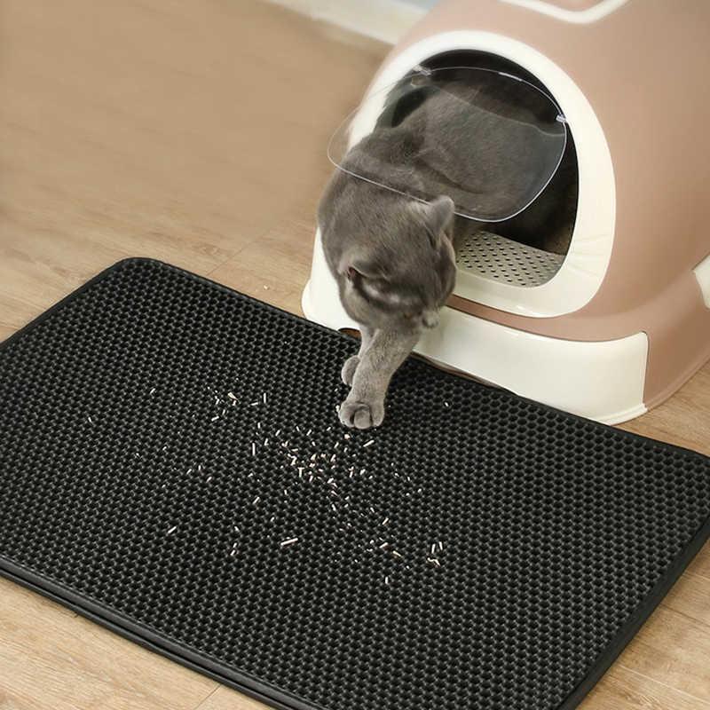 애완 동물 고양이 쓰레기 매트 방수 EVA 더블 레이어 고양이 쓰레기 트래핑 애완 동물 쓰레기 고양이 매트 깨끗한 패드 제품 고양이 액세서리