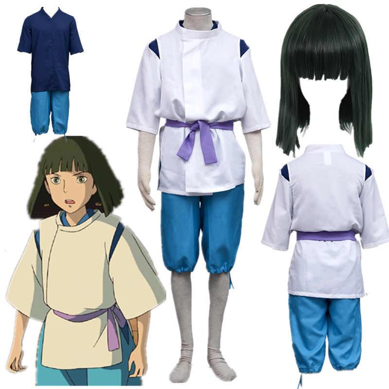 Anime Cosplay Spirited Away Haku Cosplay Costume Kimono Shop Halloween Costumes Anime Costumes Aliexpress
