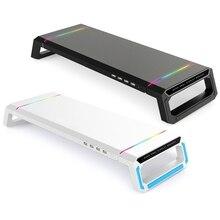 RGB Desktop Monitor Holder 4 USB 2.0 Universal Laptop Stand Base 781A