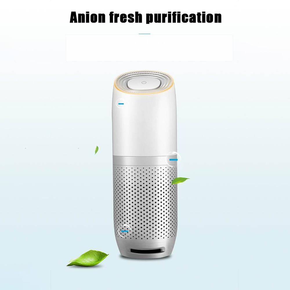 Car Air Purifier USB Air Purifier 3-Speed Volume 4-Layer Filtration Fresh Mini Air Purifier Deodorizer Accessories