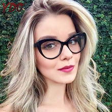 YDO New Womens Eyeglasses Frame Female Fashion Cat Eye Spectacle Ultralight Optical Clear Lens Computer Glasses For Woman