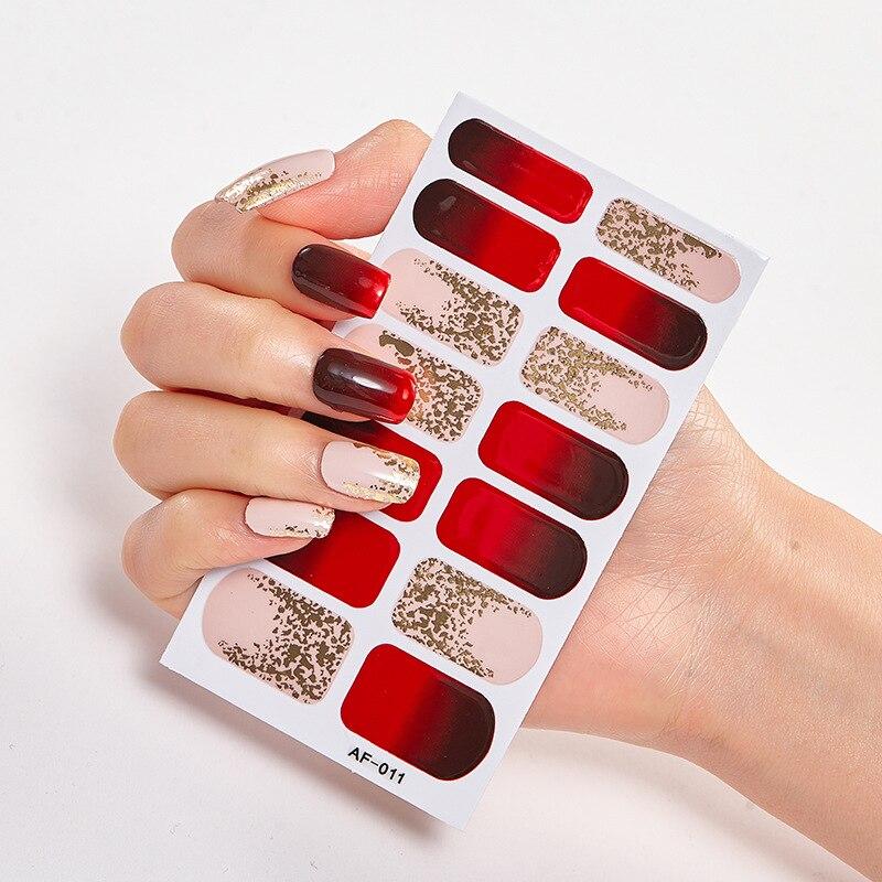 Рождественское платье для ногтей, художественное оформление ногтей, Женская фольга, наклейки для ногтей 2020, минималистичный дизайн, клей дл...