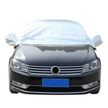 Automobiles Motorcycles Half Car Cover Top Roof Sun UV Rain Protection Waterproof Outdoor Universal Car Covers cheap JEOBEST 100 Polyester silver 4 0*1 5*0 5 m