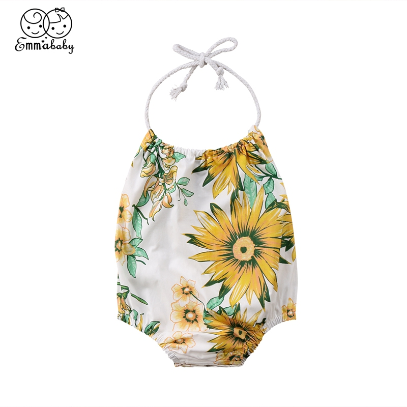0-24M Sunflowers Toddler Baby Kids Girls Swimwear Infant Cotton Hater Summer One-Piece Suits 2018 | healthy feet socks