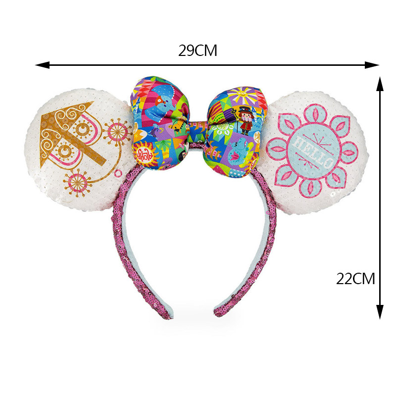 A Small World Headband Ears Cute Cartoon Pattern Girl Toy Headdress Birthday Party Decoration Christmas Gifts