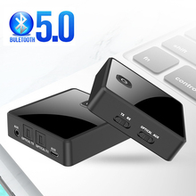 Bluetooth 5.0 Transmitter Receiver Low Latency Stereo Wireless Audio Adapter 3.5mm 3.5 AUX Jack Optical SPDIF For PC TV Car kit