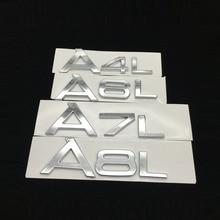 Chrome Letters Tailgate Sticker Car Rear Sticker For Audi A6 C6 A3 A6L A8L Q5 Q7 TT Emblem Badge Sticker Auto Tuning Accessories for audi a8 a8l emblem rear chrome oem quality 4e0853741a2zz