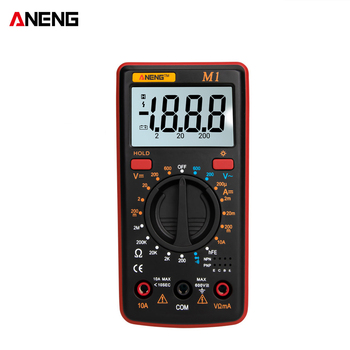 ANENG M1 Handheld Digital Multimeter LCD Backlight High Precision AC/DC Voltage Current Resistance Transistor Continuity Tester