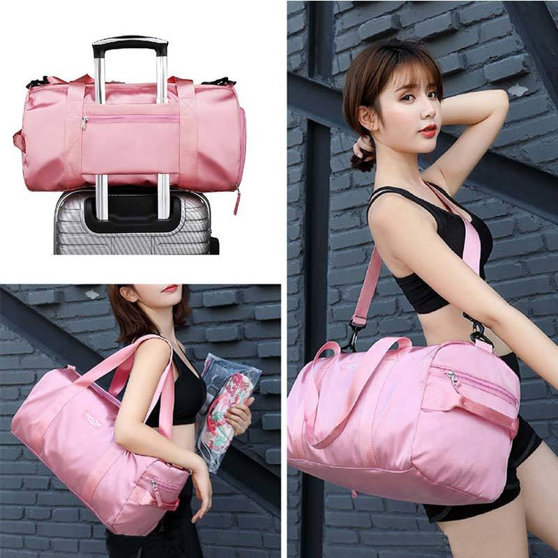 Female Nylon Travelling Bag Dry Wet Bags Sports Large Capacity Travel Bags For Women And Men Bag Nylon Sport Travel Bags in Top Handle Bags from Luggage Bags