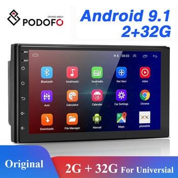 Podofo 2 Din Android Car Radio GPS Bluetooth Audio Stereo WIFI USB FM 2Din Auto Autoradio For VW Nissan Hyundai toyota CR-V KIA
