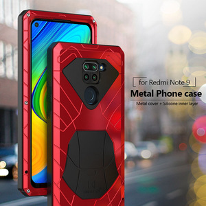 For Xiaomi Redmi Note 9 9S 8 Pro Phone Case Hard Aluminum Metal Heavy Duty Protection Cover for Redmi Note 9 S No Tempered Glass