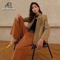 AEL Frühling Herbst Blazer Frauen Mode Großen Revers Lose Tops Mantel Kühlen Streetwear