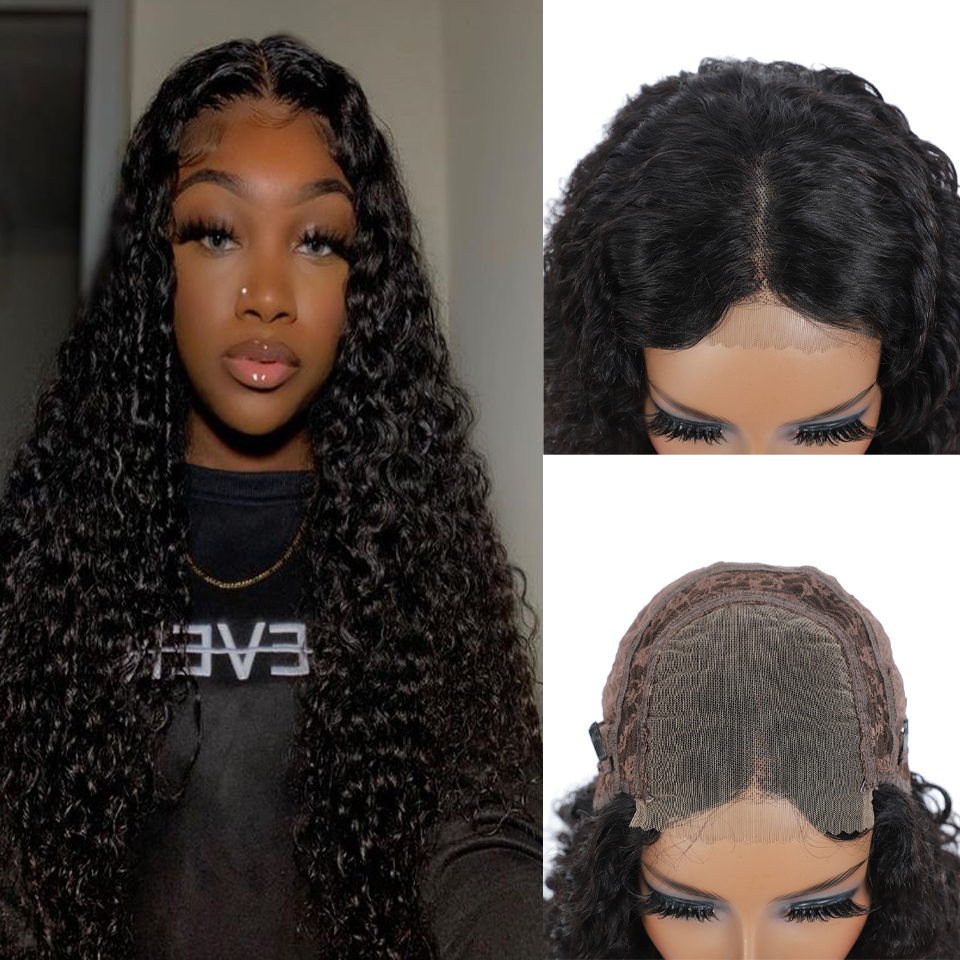 Real Women Water Wave Wig Lace Closure  Wigs Pre Plucked 30inch 4X4 Lace Closure Wig 180% Density  Wig 5