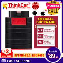 Thinkdiag herramienta de diagnóstico de sistema completo, lector de código TPMS con Bluetooth, escáner OBD2, actualización gratuita por 1 año, PK MK808 Easydiag