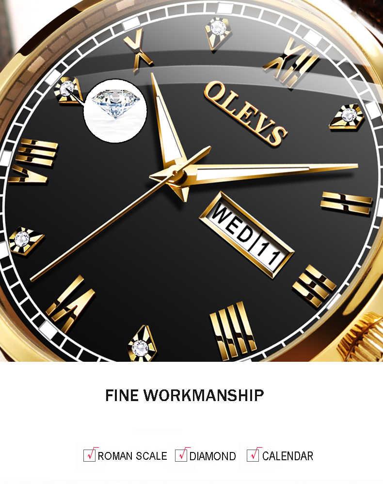 OLEVS часы мужские коричневые кожаные кварцевые Авто Дата Календарь оригинальный бренд водонепроницаемые Бизнес наручные часы модные мужские