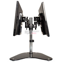 Display bracket double screen splice desktop multi direction rotating computer rack