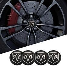 4 шт. 56 мм колпачок на ступицу колеса автомобиля металлическая эмблема наклейки аксессуары для Dodge Зарядное устройство Путешествие Challenger Ка...