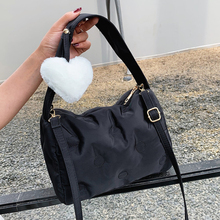 Winter Cotton Padded Women Shoulder Bag Fashion Quilting Crossbody Bags for Women Pillow Bag 2021 Space Down Women