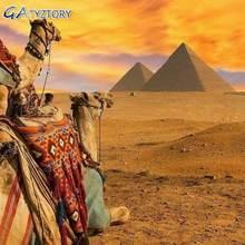 Gatyztory краска по номерам египетские пирамиды ручная рисование