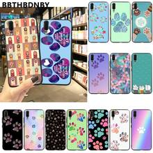 Art footprints Colorful Cute Phone Case for Xiaomi 8 9 se Redmi 6 6pro 6A 4X 7 note 5 7(China)