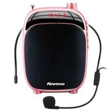 Megáfono portátil amplificador de voz, megáfono inalámbrico con micrófono, Radio negra/rosa/roja para conferencia de enseñanza al aire libre