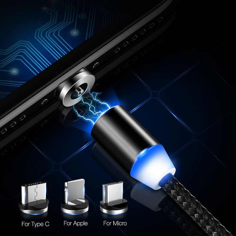 Ronde Magnetische Plug Micro Usb C / Type C / 8 Pin Voor Iphone Adapter Usb Magneet Charger Plug Fast opladen (Alleen Magnetische Plug)